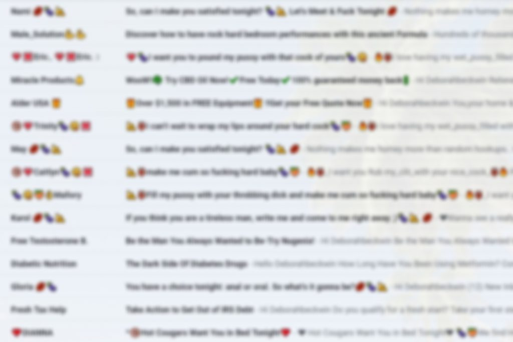 a blurred image of spam emails